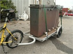 <p>Bikes At Work uses a medium-sized trailer to transport this heavy duty oven across town for one of their customers. </p>
