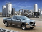 <p>The Ram 2500 CNG is available exclusively as a Crew Cab 4x4 model with 169-inch wheelbase, in either an ST or SLT trim level. Pricing starts at $47,500, including $995 destination charge.</p>