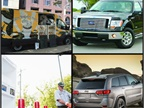 (Clockwise l to r) The Grateful Grail customizes Ford Transit van as mobile coffee shop; F-150 is part of Ford's recall of transmissions at risk for unexpectedly downshifting; CleanFUEL USA files for bankruptcy; Jeep adds two Grand Cherokee models for 2017, including the Trailhawk.