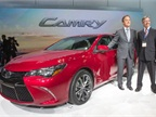 <p><em><strong>Toyota's Vice President and General Manager Bill Fay and Camry Chief Engineer Monte Kaehr with the 2015 Camry. Photo by Joe Polimeni.</strong></em></p>