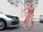 The second generation of the Toyota Safety Sense package will feature an updated pre-collision system that can help detect a collision with a bicyclist in front of the vehicle during the day. Photo courtesy of Toyota.