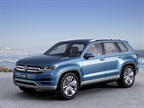 <p>The Volkswagen CrossBlue is a mid-size SUV concept with a diesel plug-in hybrid powertrain.</p>