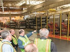 Fleet managers were given a tour of the Dearborn stamping plant.