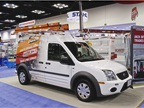 Knaack/WeatherGuard Ford Transit Connect with Jobsite Storage Boxes.