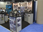 Ram Mounts booth.