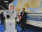 The Propane Education Research Council booth demonstrated safe