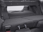 The back seats in the Fusion Hybrid fold down, allowing access to the