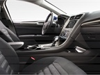 The Ford Fusion Hybrid s interior.