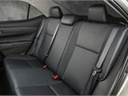 The 2014 LE Eco model s back seats. Softex material for seating is