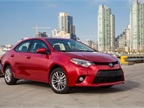 The 2014 Toyota Corolla LE grade. This is the model most commonly