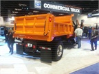 This F-750 appears at Ford s booth at the Work Truck Show with a dump