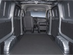 The passenger seat folds down to provide a flat work area.