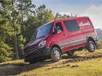 The new Sprinter 4x4 is tested on a dirt track at the Mercedes-Benz