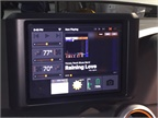 One screen embedded in the dashboard provides operating data and a