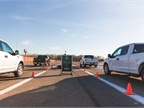 Customers were able to drive the F-150 at the Dearborn test track.