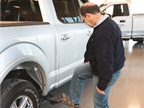 A commercial user tested out one of the F-150's features.