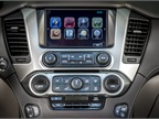 The infotainment system also includes two drop-down in-vehicle video