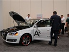 Audi brought its A3 e-Tron electric vehicle to the show. Photo by Greg