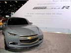 GM also brought its Code 130R sedan concept to the event. The vehicle