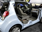 GM brought a cutaway of its Chevrolet Spark EV to the event. The Spark