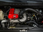 The Titan features a Cummins 5.0L V-8 turbo diesel.