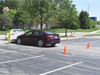 Ford showed off its automatic braking technology with the Ford Fusion