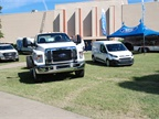 Ford also had its commercial lineup on display from its Transit