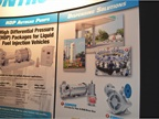 Corken s booth features examples of its autogas pumps and dispensers.