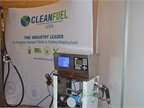 CleanFuel USA s exhibit featuring its propane fueling station.