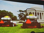 Lawn mowers in Washington, D.C., are running on propane.