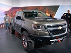 The Chevrolet Colorado ZR2 concept was unveiled at the 2014 Los Angeles Auto Show.