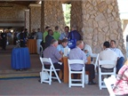 Attendees had lunch before taking vehicles out on a Ride and Drive.
