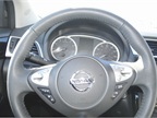 Sentra s SL offers a leather-wrapped steering wheel and leather