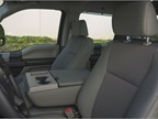 Front seating comes in a 40/20/40 configuration.