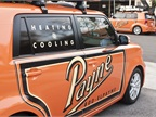 When owner Gordon Payne of the E.L. Payne Company first saw the Scion xB it reminded him of a mini version of a 1950's milk or bakery truck.