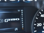 In  manual  model, the instrument panel shows what gear the truck is