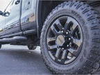 The truck rides on LT275/65R18 Goodyear Duratrac MT-rated tires fitted