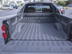 The truck offers a spray-on bed liner.