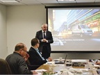 Presenting at the event was Claus Tritt, general manager, operations,