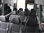 The short wheelbase van can seat up to 12 passengers and has a maximum
