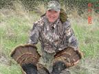 One of the many times Ed gotten lucky and shot two turkeys with one