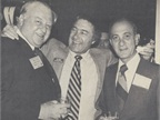 At a 1977 AALA convention, Ed (center) embraces Chevrolet s Chuck