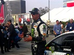 Gymkhana driver Ken Block did a drifting demonstration in the all-new