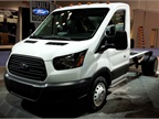 Photo courtesy of NTEA.The new Ford Transit Chassis Cab.