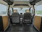 The rear cargo hold offers 105.9 cubic feet of space for packages or