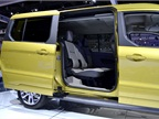 In the long wheelbase version of the Transit Connect Wagon, the rear