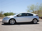 The 2013 Chevrolet Volt features an electric-only range of 38 miles.