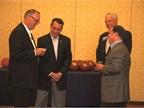 GM's Ed Peper (L), Tony DiSalle (right), and Brian Bowden (far