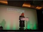 GM s Joyce Mattmann gave a brief presentation before MotorWeek s John