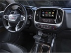 The Canyon includes a  bold, upright instrument panel  to provide the